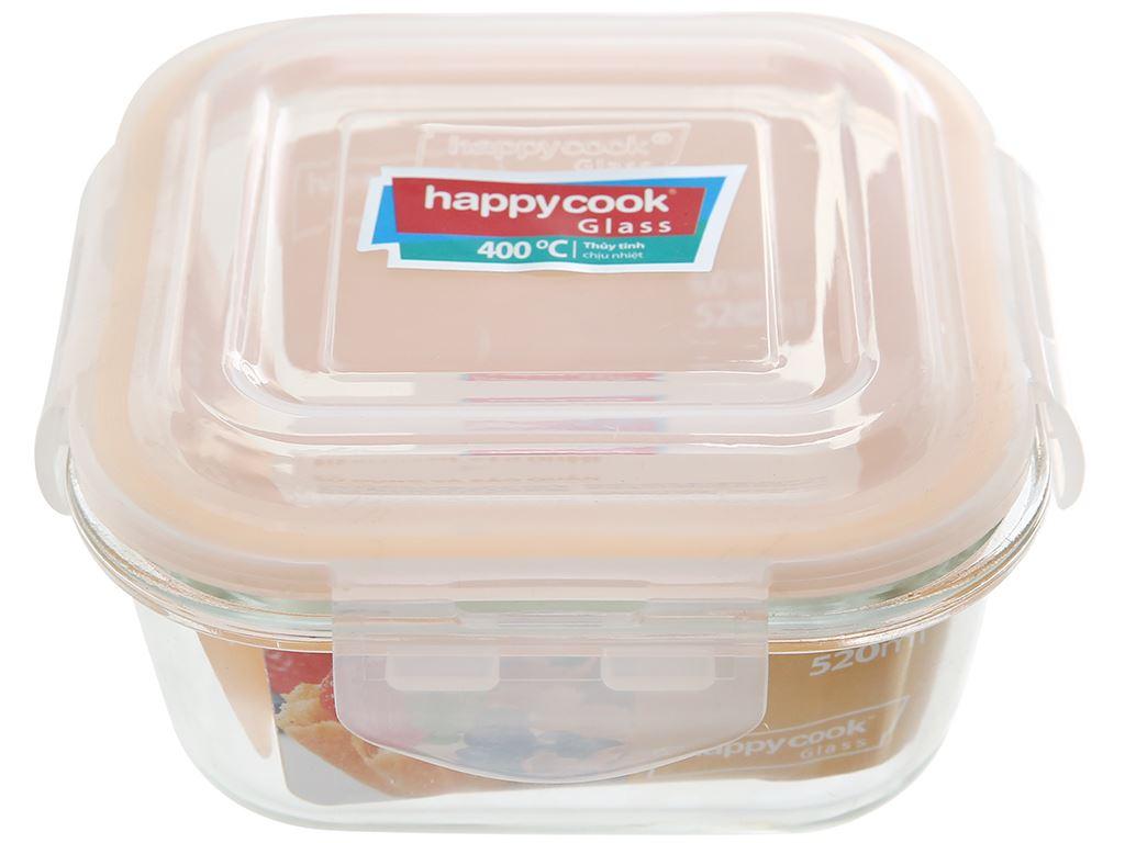 Hộp thủy tinh HappyCook HCG - 052S 520ml 1