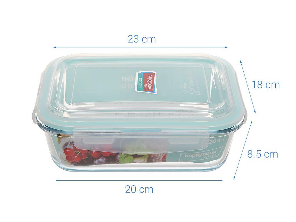 Hộp thủy tinh HappyCook HCG - 152R 1.52 lít 7