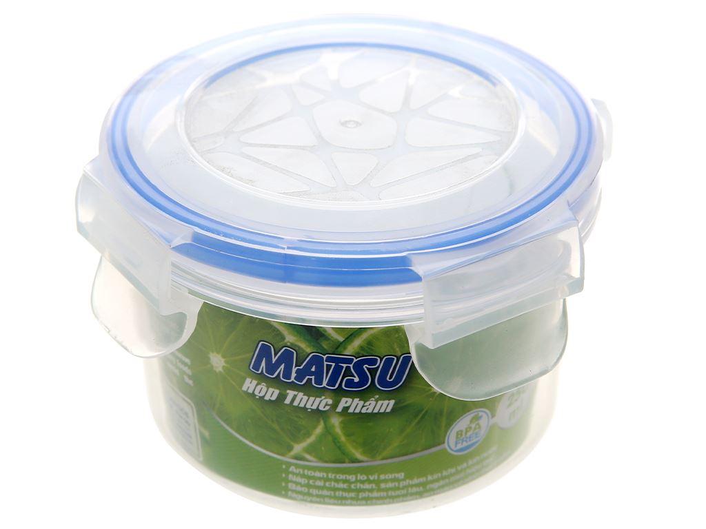 Hộp nhựa tròn Matsu 250ml 1