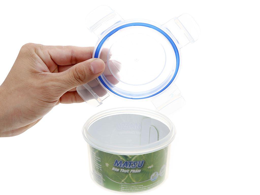Hộp nhựa tròn Matsu 250ml 2