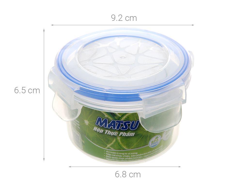 Hộp nhựa tròn Matsu 250ml 6