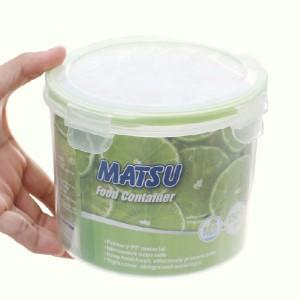 Hộp nhựa tròn Matsu 1.5 lít
