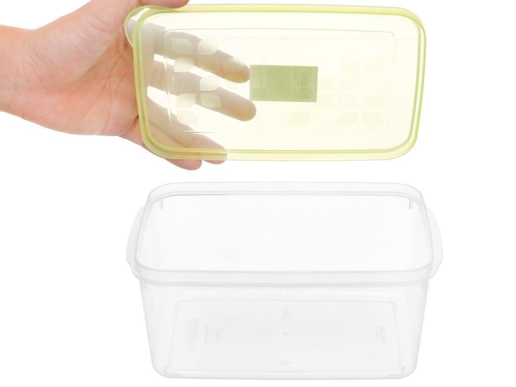 Bộ 4 hộp nhựa chữ nhật Matsu B03 4 hộp 7