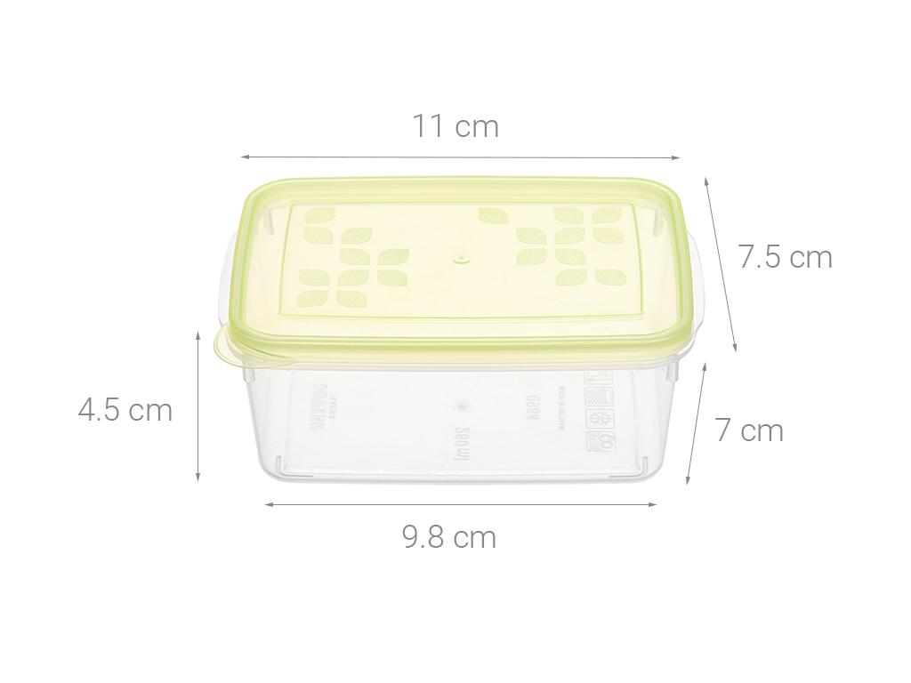 Bộ 4 hộp nhựa chữ nhật Matsu B03 4 hộp 19