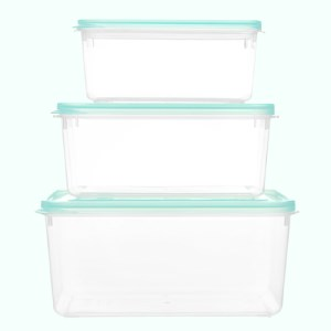 Bộ 3 hộp nhựa chữ nhật Matsu B02