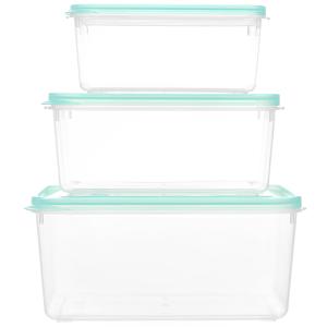 Bộ 3 hộp nhựa chữ nhật Matsu B02 sản phẩm được giao với màu sắc ngẫu nhiên