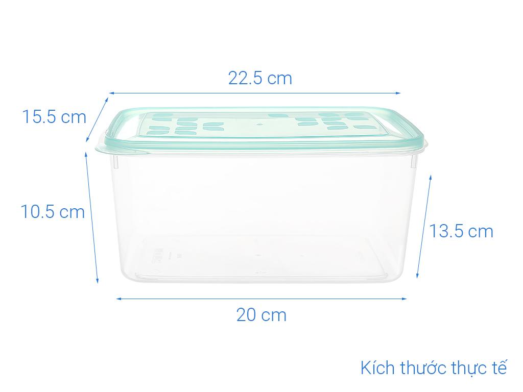 Hộp nhựa chữ nhật Matsu (giao màu ngẫu nhiên) 2.8 lít 5