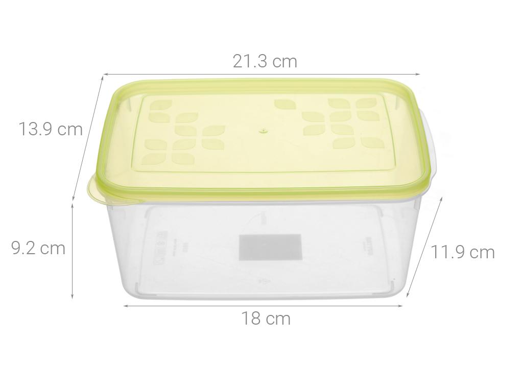Hộp nhựa chữ nhật Matsu 1.95 lít 5
