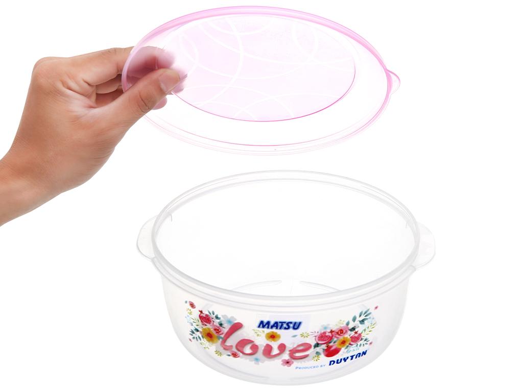 Hộp nhựa tròn có nắp Duy Tân 1.4 lít (giao màu ngẫu nhiên) 2