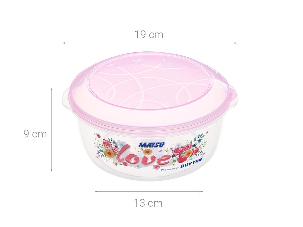 Hộp nhựa tròn có nắp Duy Tân 1.4 lít (giao màu ngẫu nhiên) 5