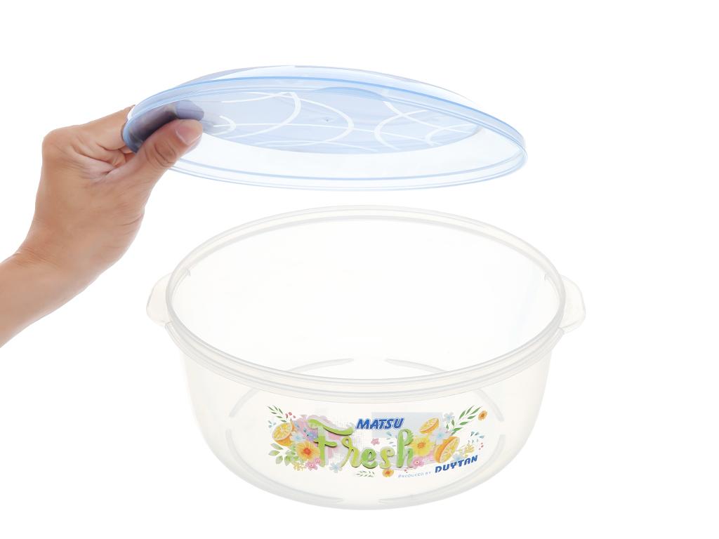 Hộp nhựa tròn có nắp Duy Tân 3 lít 2