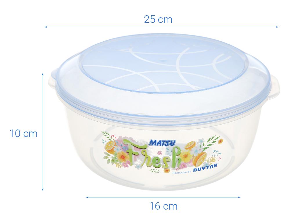 Hộp nhựa tròn có nắp Duy Tân 3 lít 5