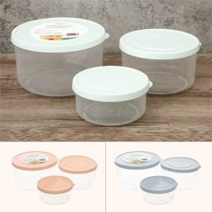 Bộ 3 hộp thực phẩm nhựa PP tròn Inochi HIN.HOTR.BO01 750, 1500, 2500 ml (giao màu ngẫu nhiên)