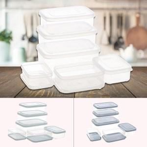 Bộ 6 hộp thực phẩm nhựa PP chữ nhật Inochi HIN.HOCN.BO03 500, 750, 1000, 1500, 2000, 2500 ml (giao màu ngẫu nhiên)