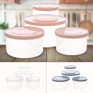 Bộ 4 hộp nhựa PP tròn Inochi (giao màu ngẫu nhiên)