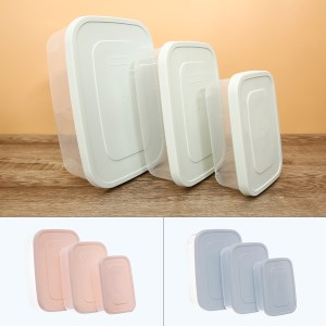 Bộ 3 hộp thực phẩm nhựa PP Inochi 750, 1500, 2500 ml (giao màu ngẫu nhiên)