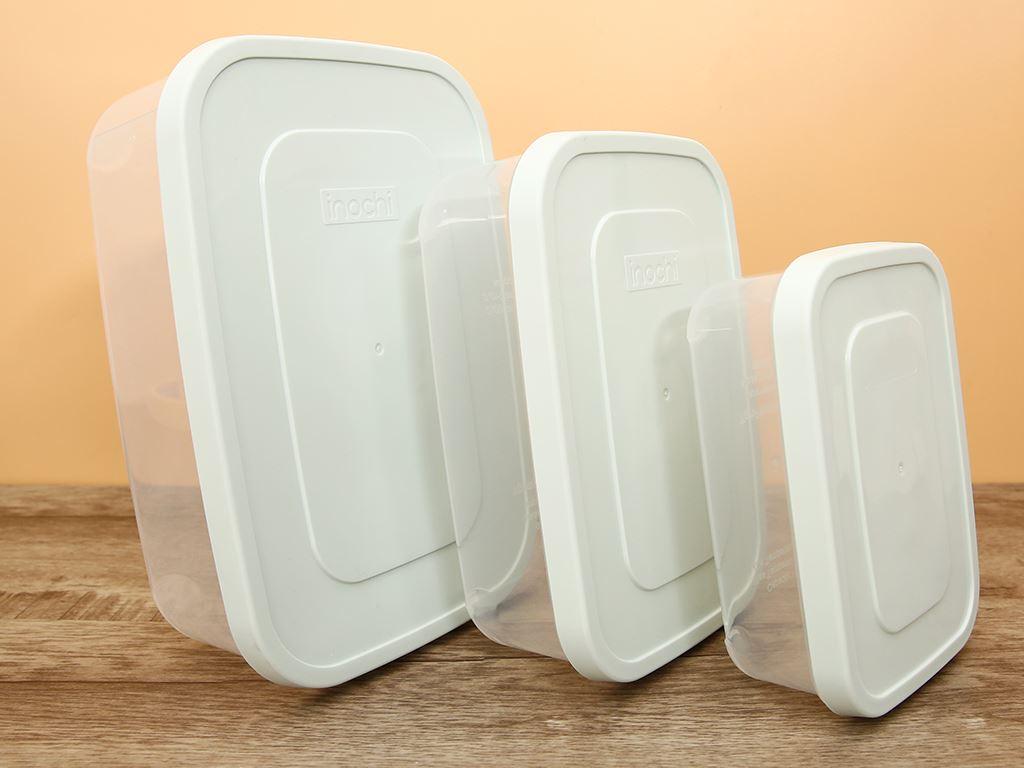 Bộ 3 hộp thực phẩm nhựa PP Inochi 750, 1500, 2500 ml (giao màu ngẫu nhiên) 1