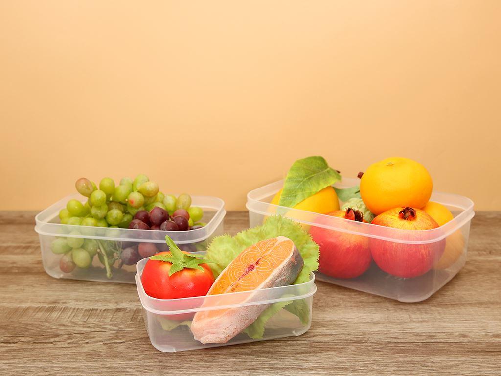 Bộ 3 hộp thực phẩm nhựa PP Inochi 750, 1500, 2500 ml (giao màu ngẫu nhiên) 7