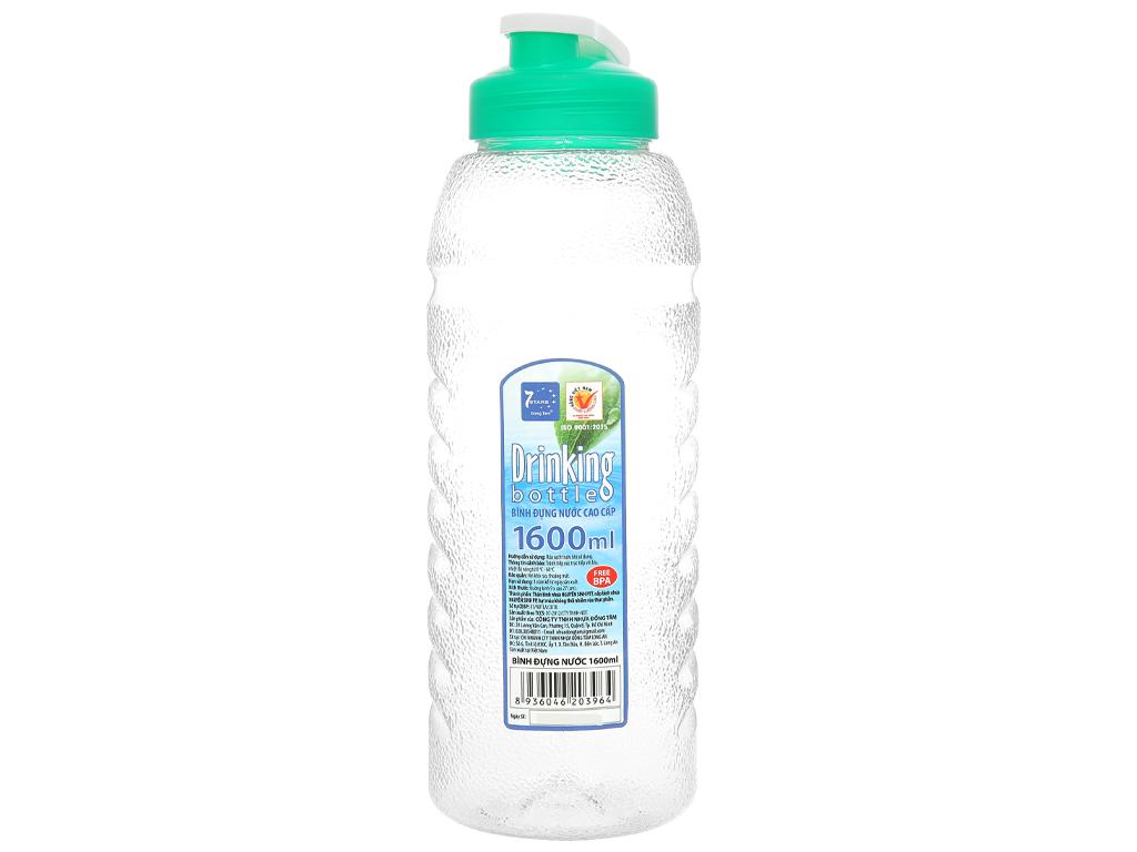 Bình đựng nước cao cấp nhựa tròn 1.6 lít Đồng Tâm (giao màu ngẫu nhiên) 1