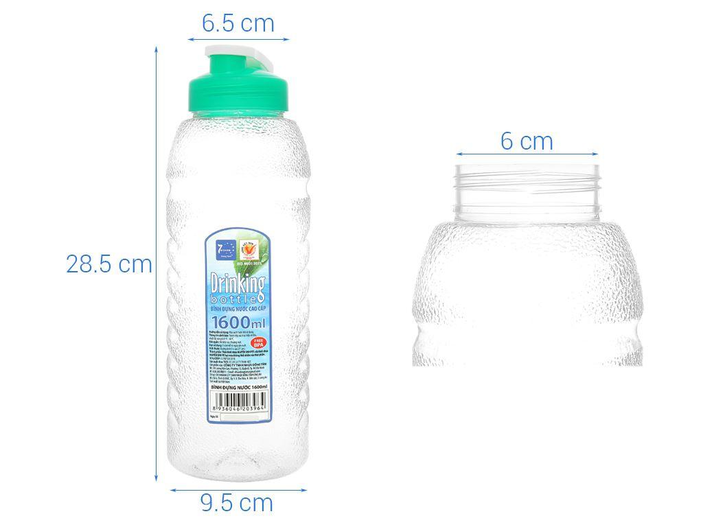 Bình đựng nước cao cấp nhựa tròn 1.6 lít Đồng Tâm (giao màu ngẫu nhiên) 5