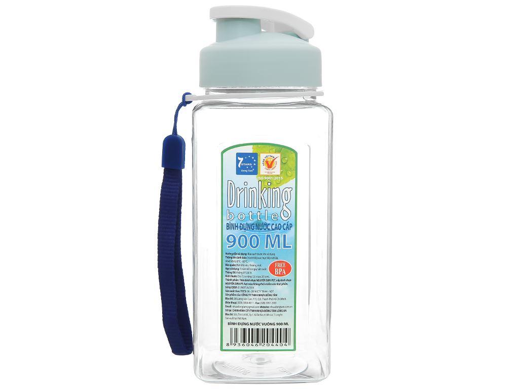 Bình đựng nước cao cấp nhựa vuông 900 ml Đồng Tâm (giao màu ngẫu nhiên) 1