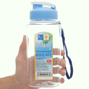 Bình đựng nước cao cấp nhựa oval 800 ml Đồng Tâm (giao màu ngẫu nhiên)