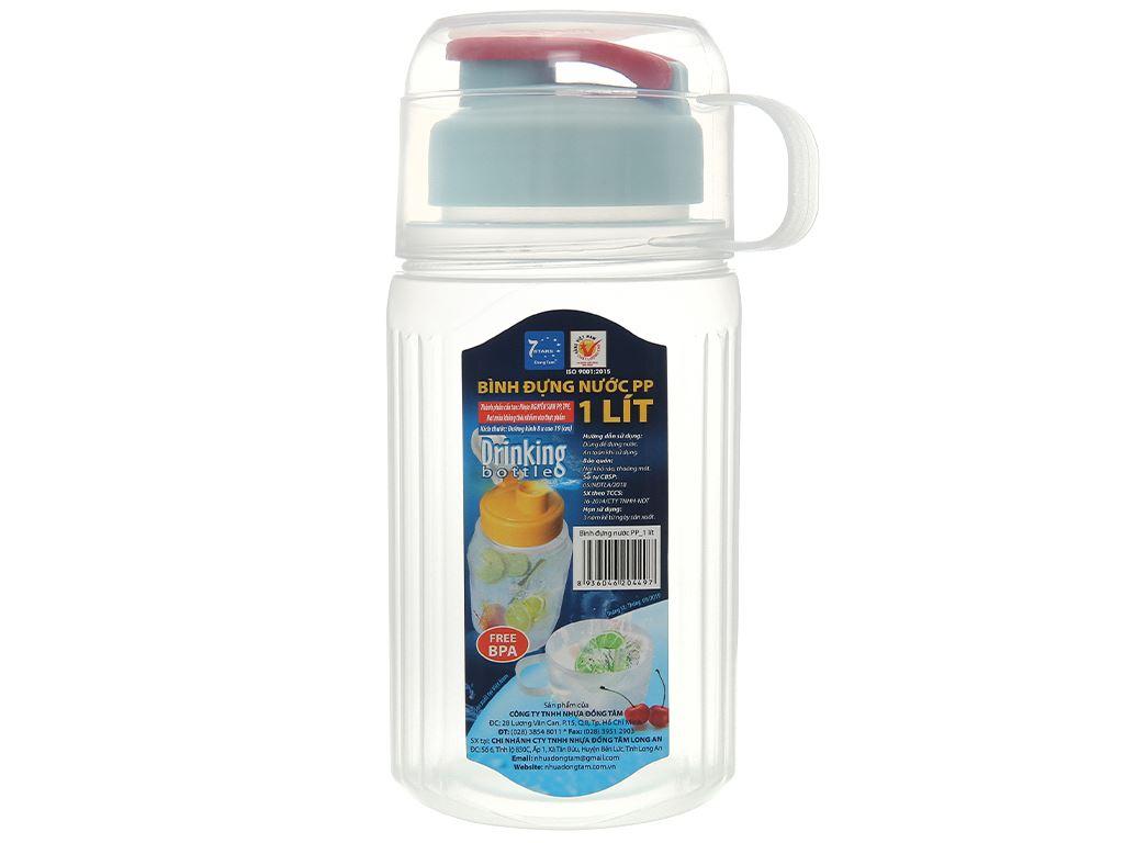 Bình đựng nước nhựa 1 lít Đồng Tâm (giao màu ngẫu nhiên) 1