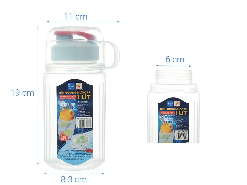 Bình đựng nước nhựa 1 lít Đồng Tâm (giao màu ngẫu nhiên) 5