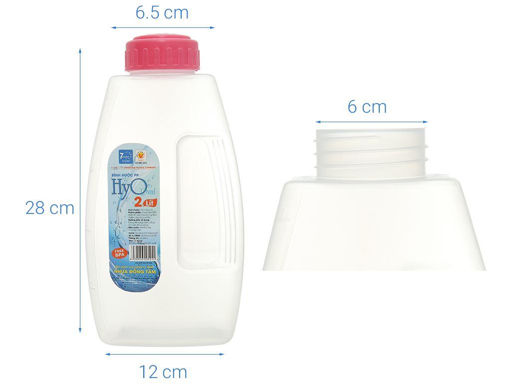 Bình đựng nước nhựa 2 lít Đồng Tâm (giao màu ngẫu nhiên) 5