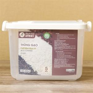 Thùng gạo nhựa 5kg BHX JCJ2558