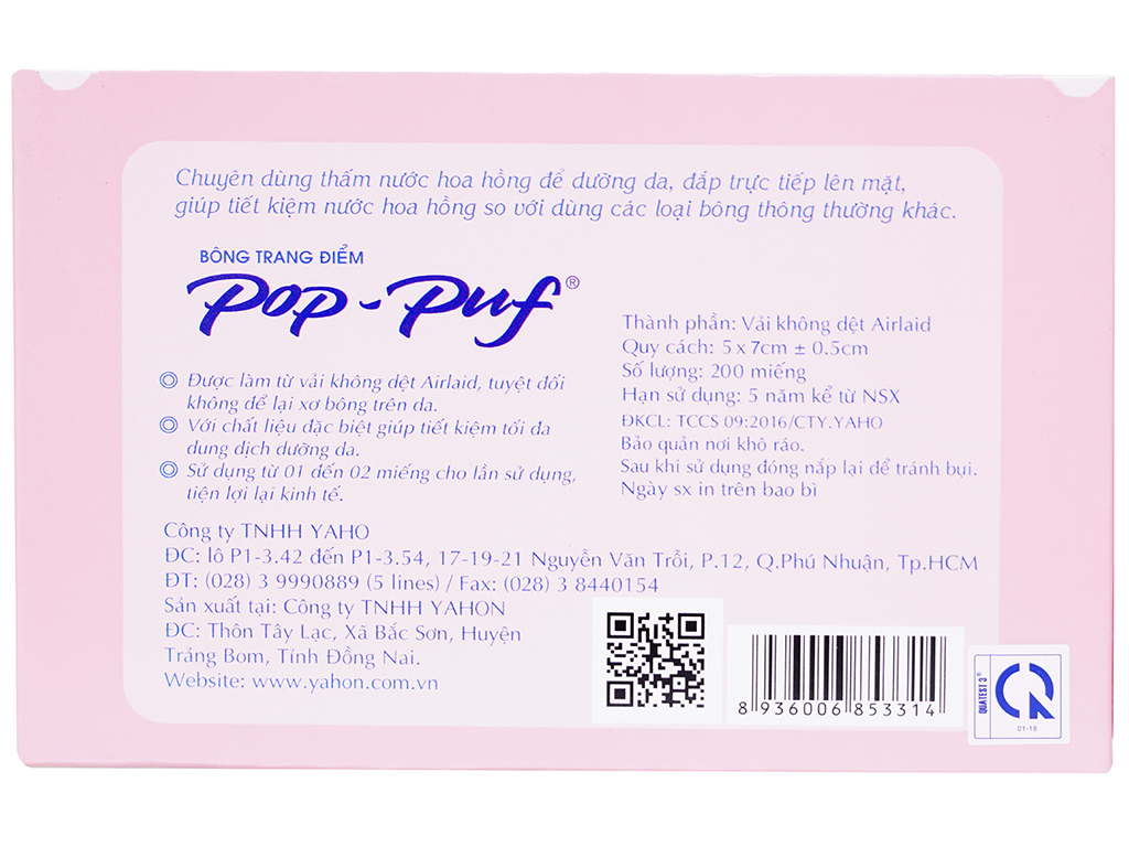 Bông trang điểm PoP-Puf 200 miếng 2