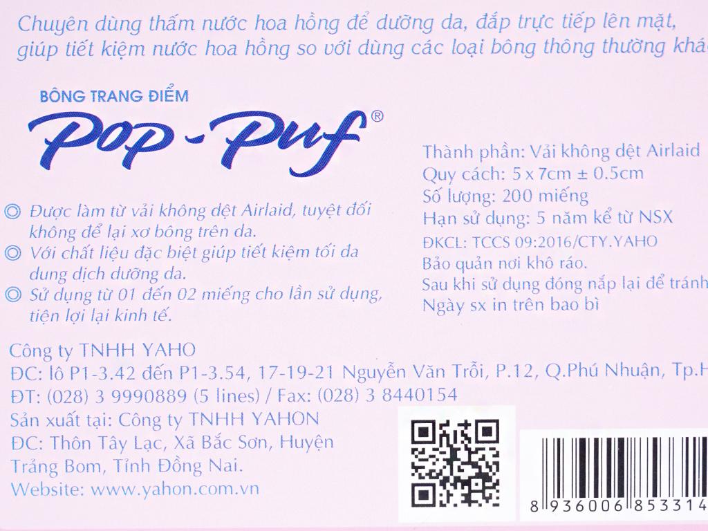 Bông trang điểm PoP-Puf 200 miếng 3