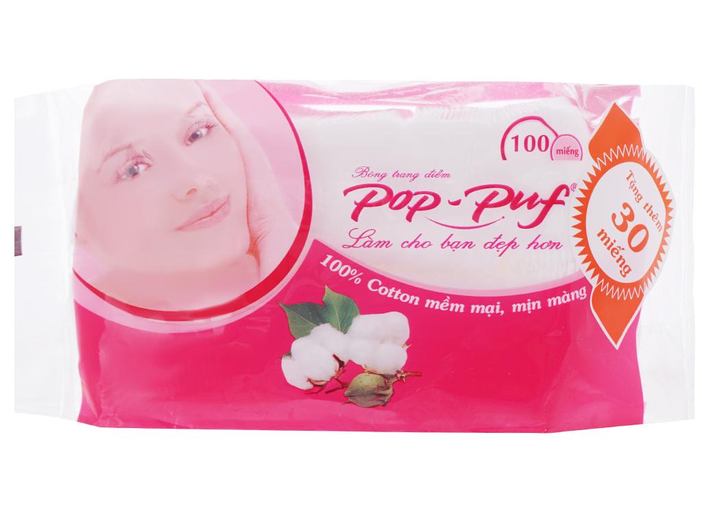 Bông trang điểm PoP-Puf ép biên bịch 100 miếng 1