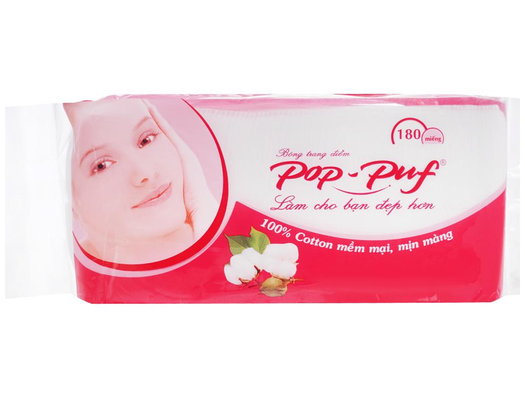 Bông trang điểm PoP-Puf ép biên hộp 180 miếng 1
