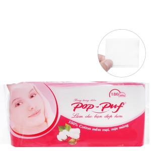 Bông trang điểm PoP-Puf ép biên hộp 180 miếng