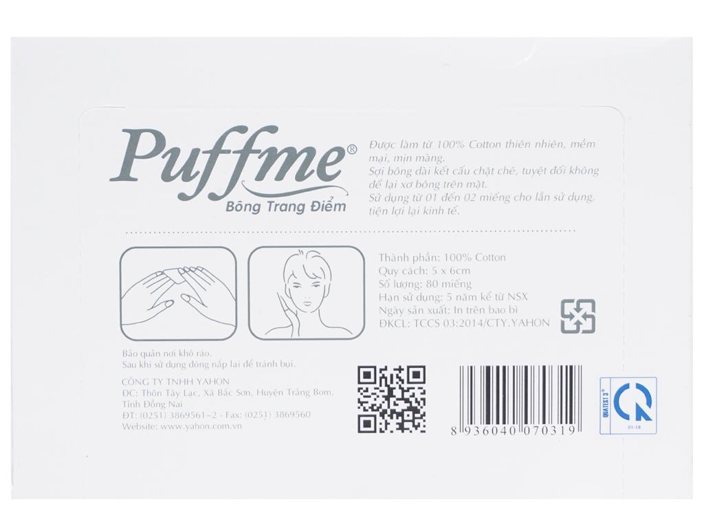 Bông trang điểm Puffme ép biên hộp 80 miếng 2
