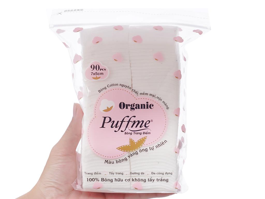 Bông trang điểm Puffme Organic bịch 90 miếng 4
