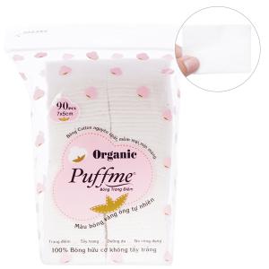Bông trang điểm Puffme Organic 90 miếng