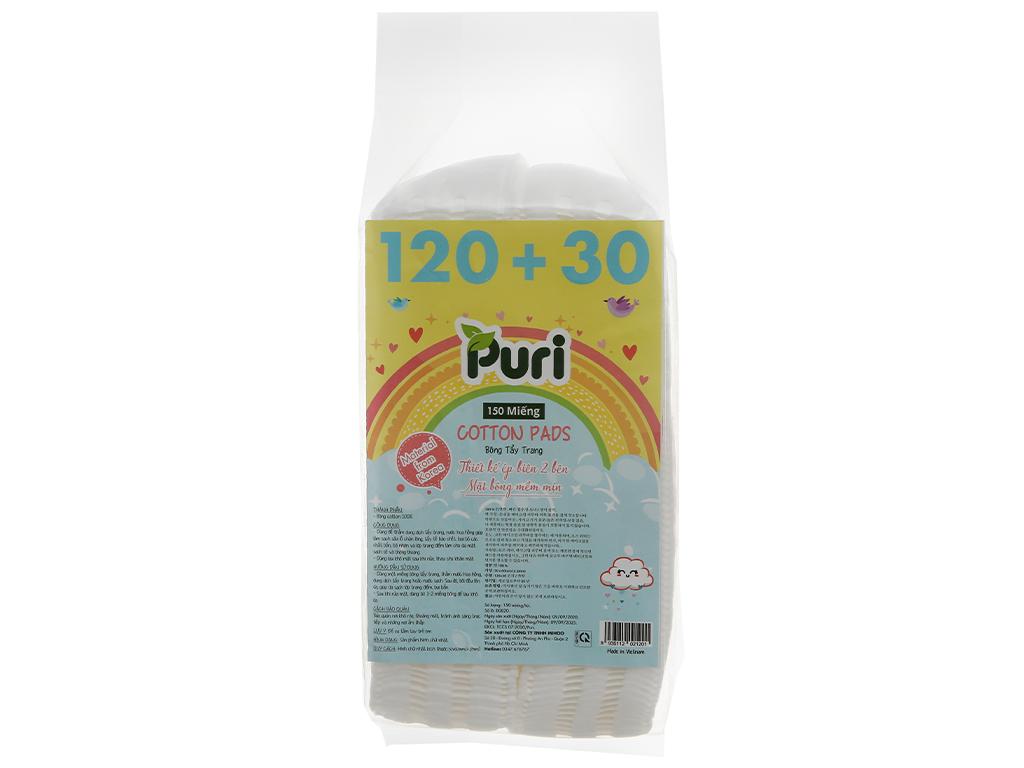 Bông tẩy trang Puri túi 150 miếng (giao màu ngẫu nhiên) 1