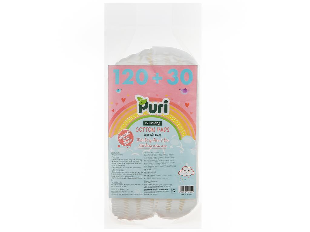 Bông tẩy trang Puri túi 150 miếng (giao màu ngẫu nhiên) 5