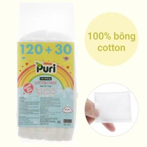 Bông tẩy trang Puri túi 150 miếng (giao màu ngẫu nhiên)