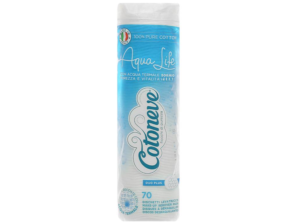 Bông tẩy trang Cotoneve Aqua Life túi 70 miếng 1