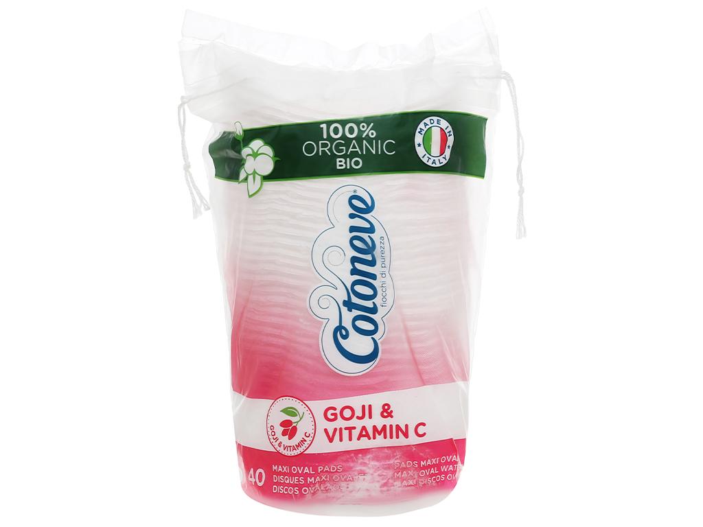 Bông tẩy trang Cotoneve Aqua Life Maxi 2 trong 1 túi 40 miếng 1
