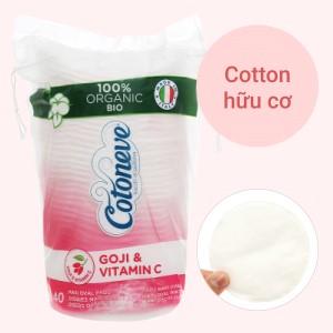 Bông tẩy trang Cotoneve Aqua Life Maxi 2 trong 1 túi 40 miếng