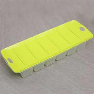 Khay đá nhựa có nắp 12 viên BHX JCJ-1113 xanh lá