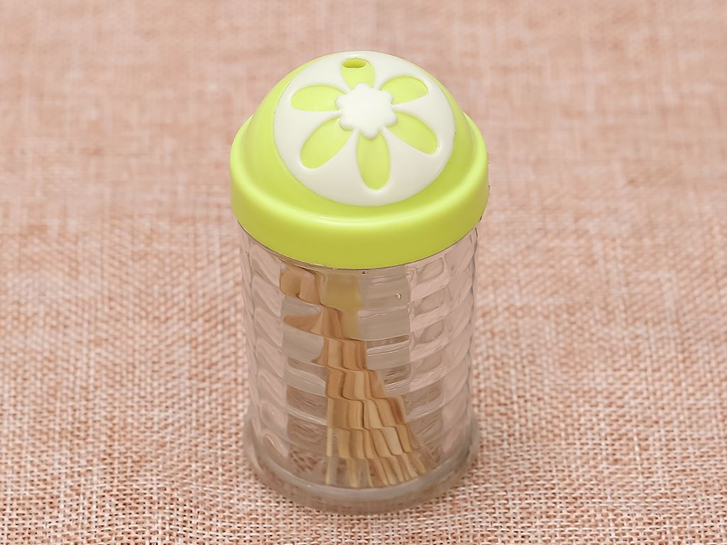 Hũ đựng tăm nhựa Tự Lập TL301 xanh lá 5