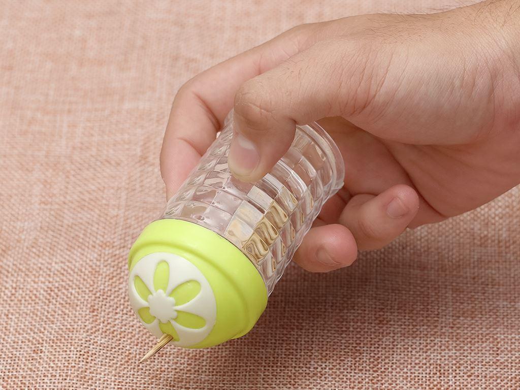 Hũ đựng tăm nhựa Tự Lập TL301 xanh lá 6