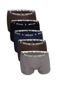 Combo 5 quần boxer thun co giãn 4 chiều Relax CB5 - REM006 màu ngẫu nhiên