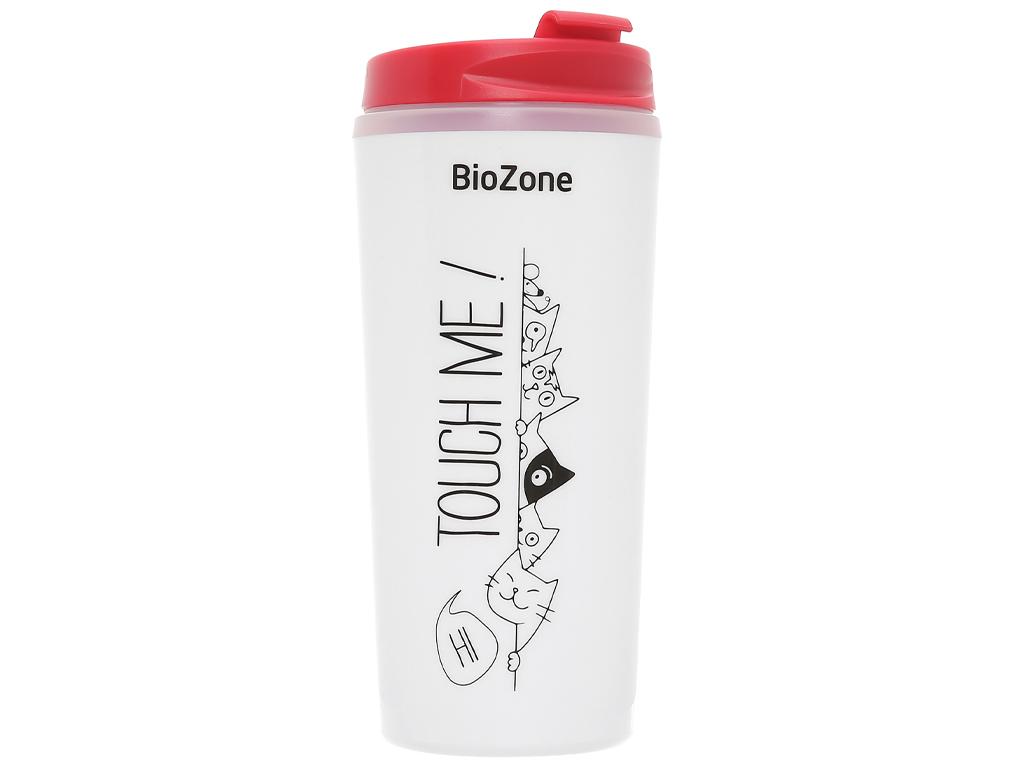 Bình giữ nhiệt nhựa 500ml Biozone trắng đỏ 1