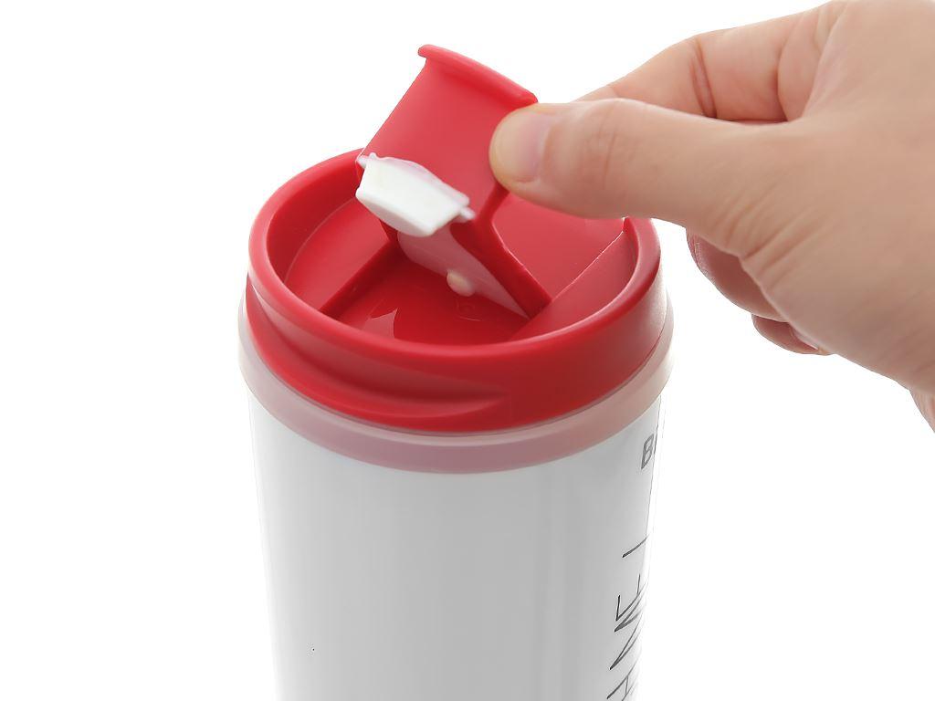 Bình giữ nhiệt nhựa 500ml Biozone trắng đỏ 6